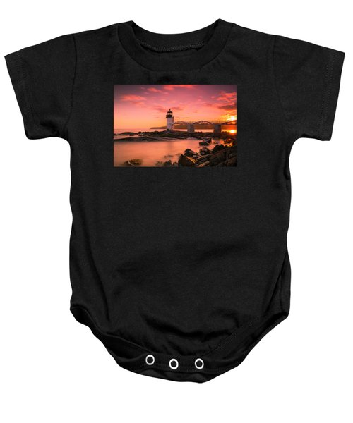 Maine Lighthouse Marshall Point At Sunset Baby Onesie