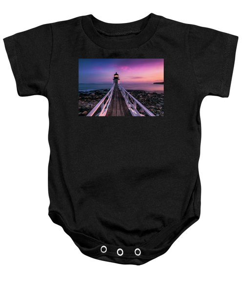 Maine Sunset At Marshall Point Lighthouse Baby Onesie