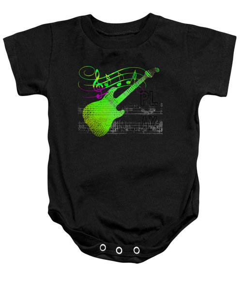 Baby Onesie featuring the digital art Making Music by Guitar Wacky