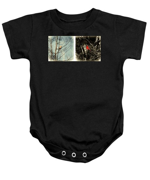 Male And Female Cardinal Baby Onesie