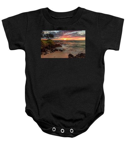 Maluaka Beach Sunset Baby Onesie