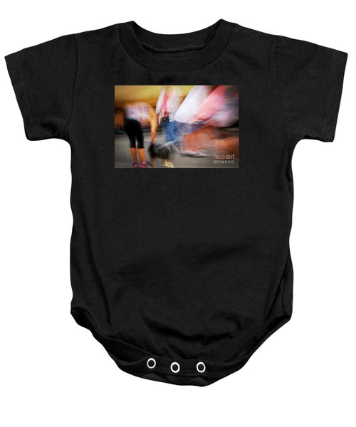 Woman Playing With Dog Baby Onesie