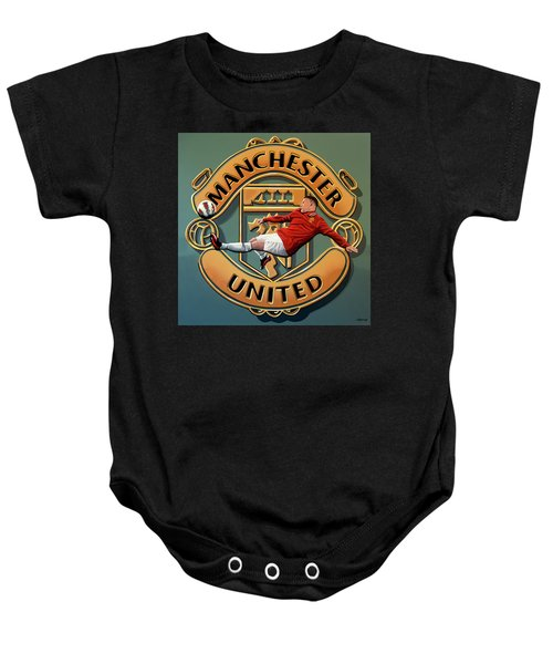 Manchester United Painting Baby Onesie