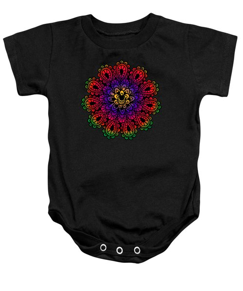 Mandala By Lamplight Baby Onesie