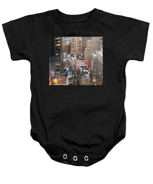 Manhattan At Dusk Baby Onesie