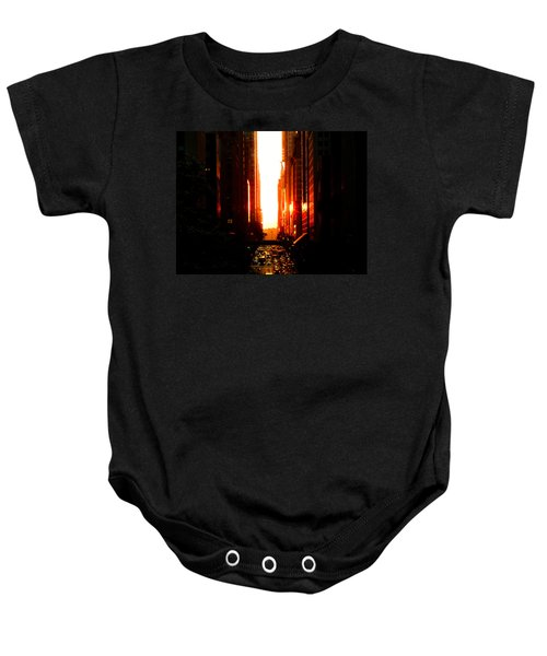 Manhattanhenge Sunset Overlooking Times Square - Nyc Baby Onesie