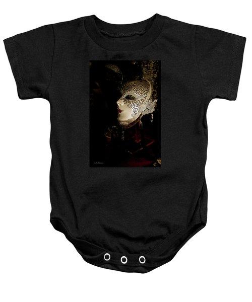 Mardi Gras Mask Baby Onesie