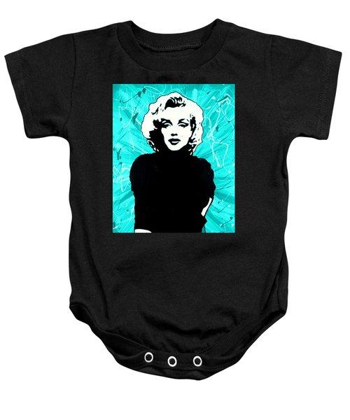Marilyn Monroe Blue Green Aqua Tint Baby Onesie