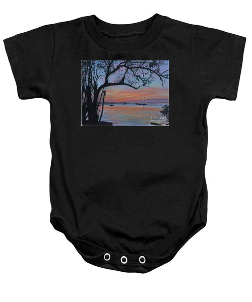 Marsh Harbour At Sunset Baby Onesie