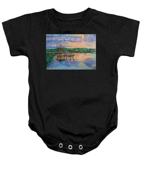 Baby Onesie featuring the painting Marsh View At Pawleys Island by Kendall Kessler