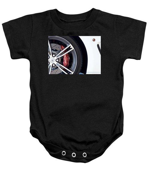 Maserati Wheel White Baby Onesie