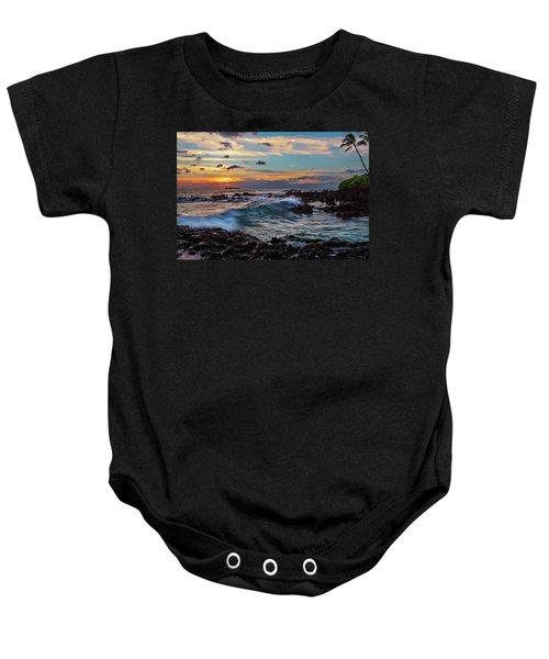 Maui Sunset At Secret Beach Baby Onesie