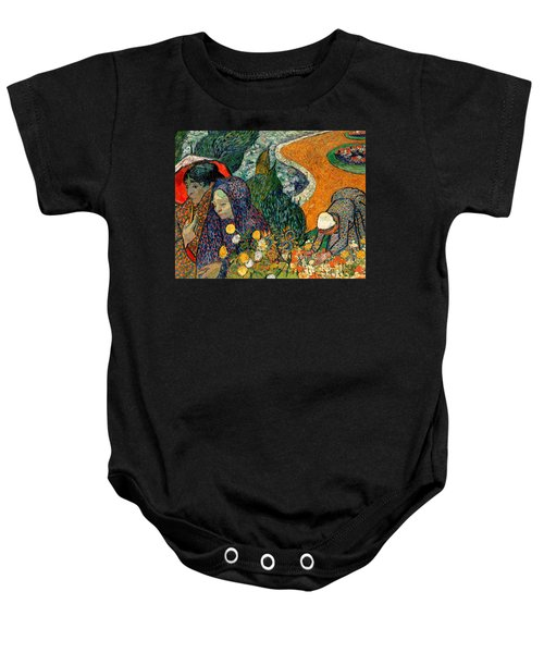 Baby Onesie featuring the painting Memory Of The Garden At Etten by Van Gogh