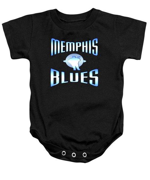Memphis Blues Music Design Baby Onesie