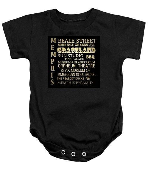 Memphis Tennessee Famous Landmarks Baby Onesie