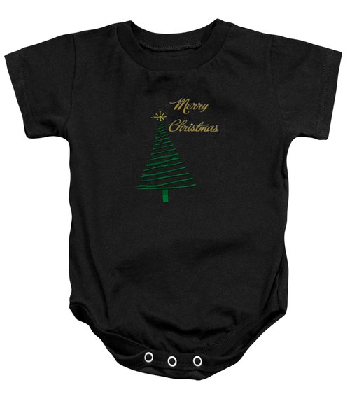 Merry Christmas Tree Baby Onesie
