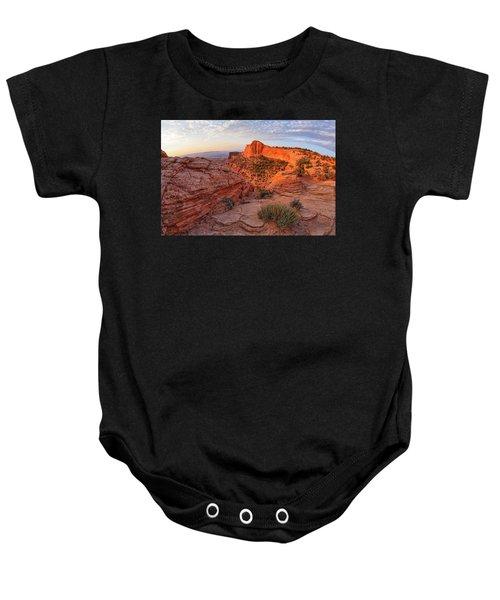 Mesa Arch Overlook At Dawn Baby Onesie