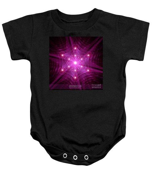 Metatron's Cube Baby Onesie