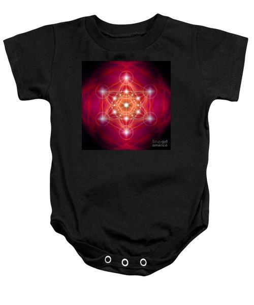 Metatron's Cube Female Energy Baby Onesie