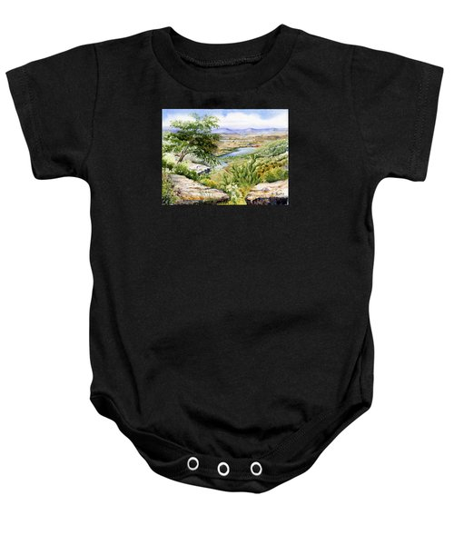 Mexican Landscape Watercolor Baby Onesie