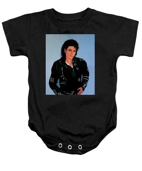 Michael Jackson Bad Baby Onesie
