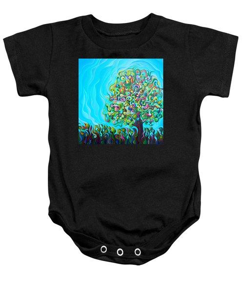 Mid-summer Tree Breath Baby Onesie