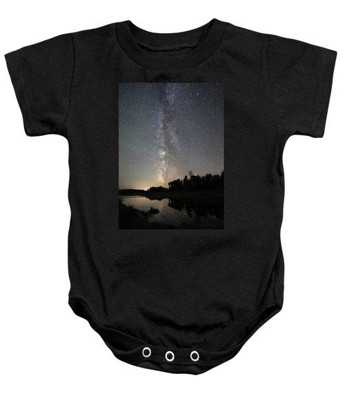 Milky Way Over Schwabacher's Landing Baby Onesie
