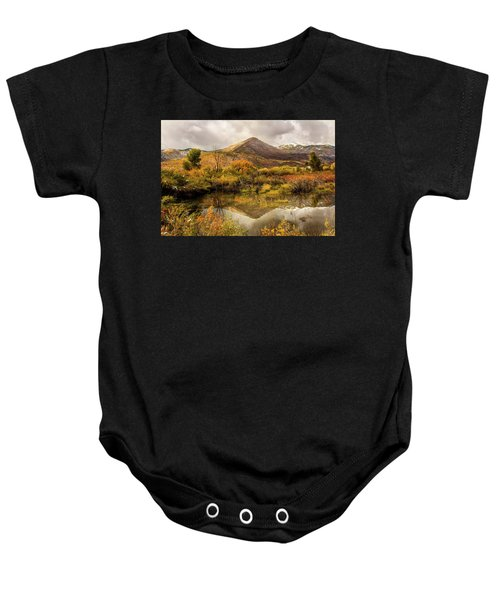 Mill Canyon Peak Reflections Baby Onesie