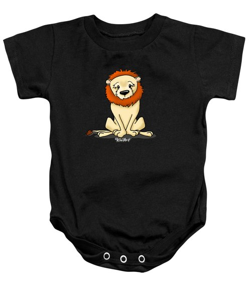 Lion Peaceful Reflection  Baby Onesie