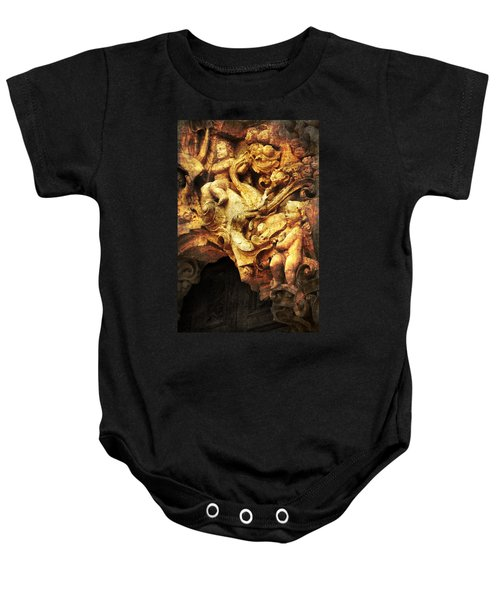Baby Onesie featuring the photograph Mission Cherubs by Renee Hong