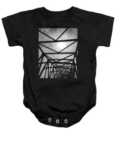 Mississippi River Bridge Baby Onesie