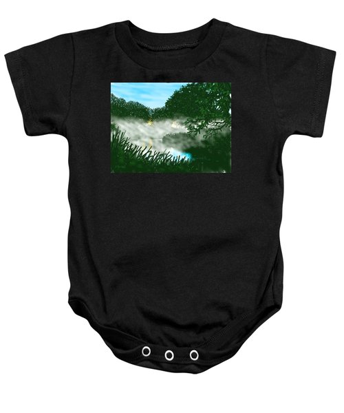 Mist On The River Ouse Baby Onesie