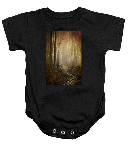 Misty Woodland Path Baby Onesie