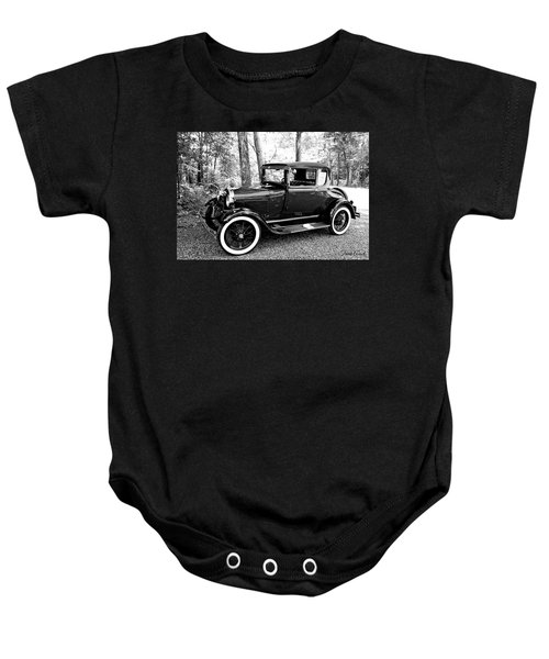 Model A In Black And White Baby Onesie