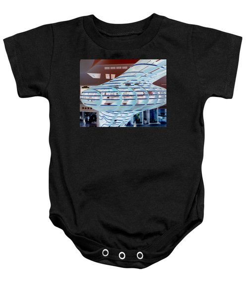 Ghostly Shopping Mall Baby Onesie