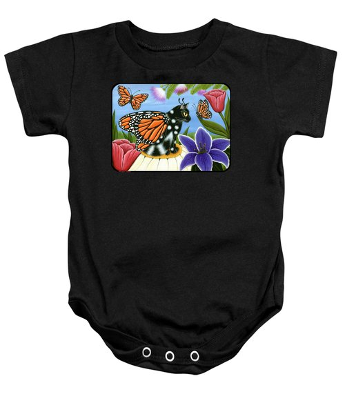 Monarch Butterfly Fairy Cat Baby Onesie