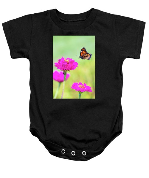 Monarch In Flight 1 Baby Onesie