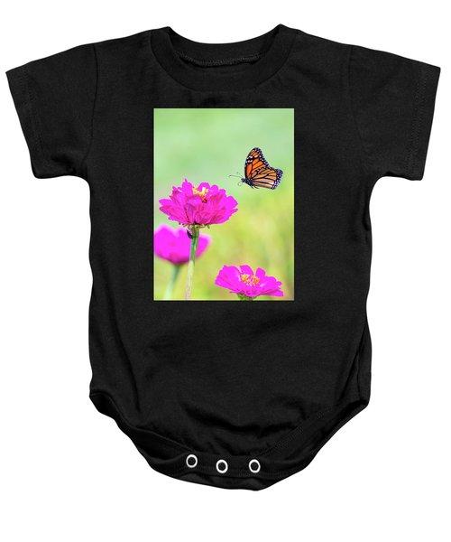 Monarch In Flight 1 Baby Onesie