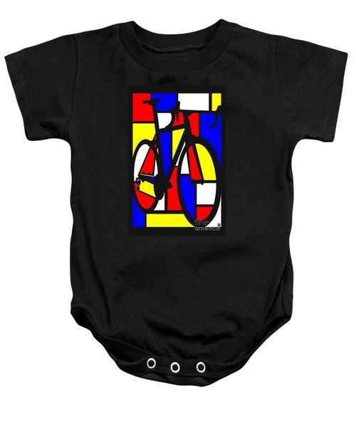 Mondrianesque Road Bike Baby Onesie