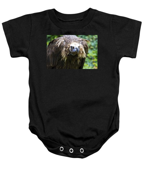 Baby Onesie featuring the photograph Monk Vulture 3 by Heiko Koehrer-Wagner
