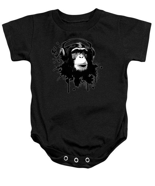 Monkey Business - Black Baby Onesie by Nicklas Gustafsson