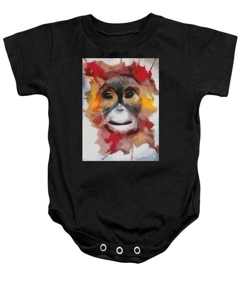 Monkey Splat Baby Onesie