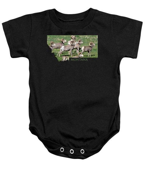 Montana -bighorn Rams Baby Onesie