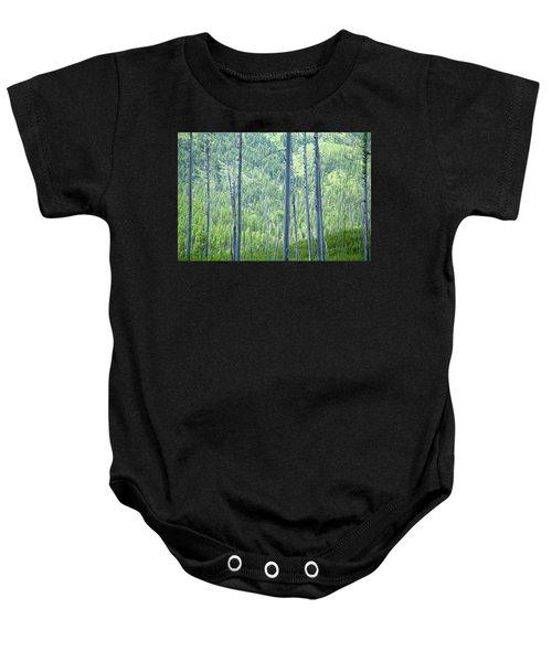 Montana Trees Baby Onesie