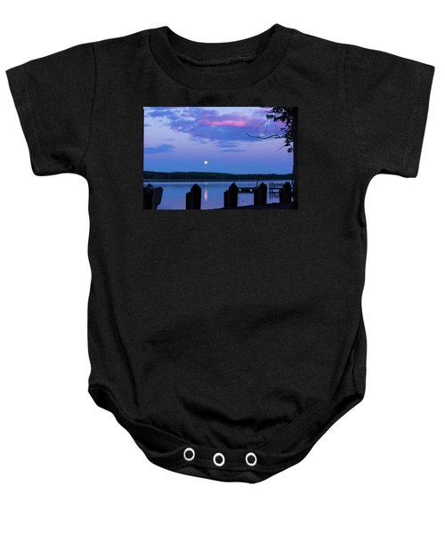 Moon And Pier Baby Onesie