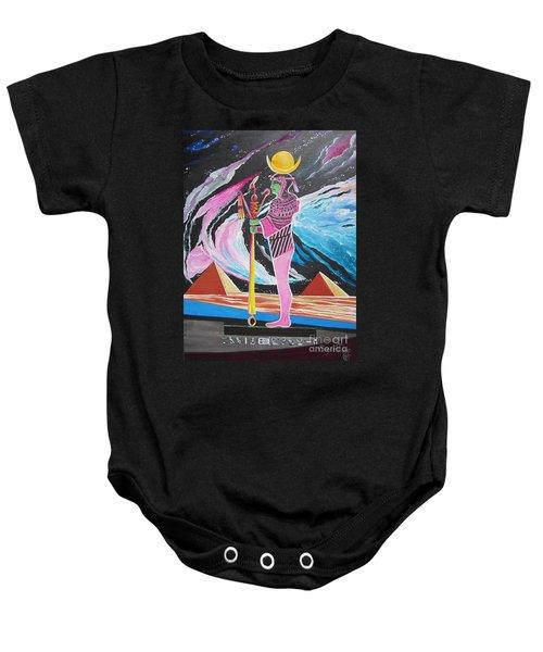 Blaa Kattproduksjoner             Moon God - Osiris Baby Onesie