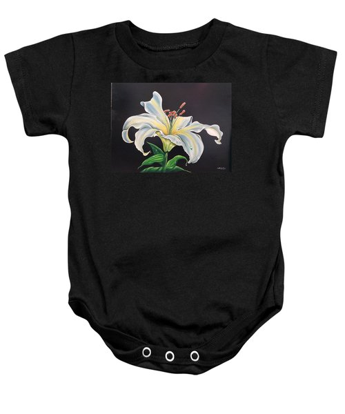 Moon Light Lilly Baby Onesie