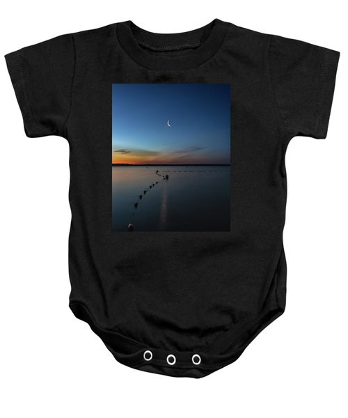 Moon Over Cayuga Baby Onesie