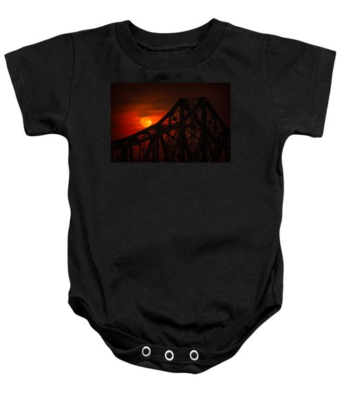 Moon Over The Bridge Baby Onesie