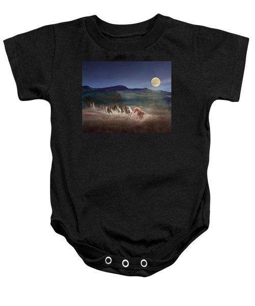 Moonlight Run Baby Onesie
